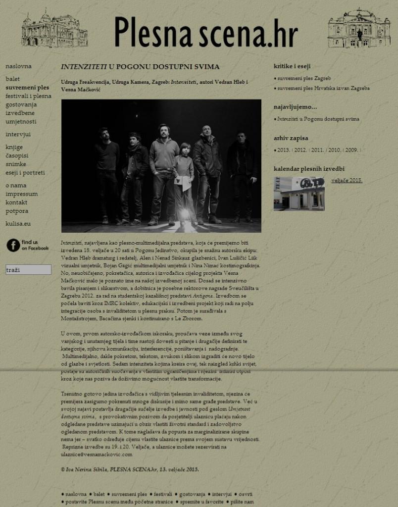 2015-02-13 Plesna scena - Iva Nerina Sibila - Intenziteti u Pogonu dostupni svima
