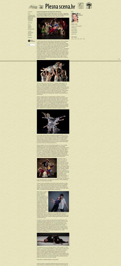 Plesna scena   Kako razlikovati plesače od plesa