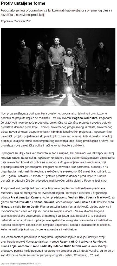 2015-02-18 Kulturpunkt - Protiv ustaljene forme