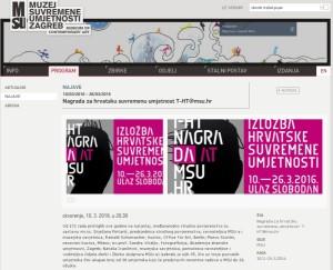 2016-02-01 Nagrada za hrvatsku suvremenu umjetnost T-HT MSU